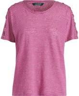 Ralph Lauren Lace-Up Striped Linen T-Shirt
