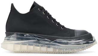 Rick Owens Clear Sole Sneakers
