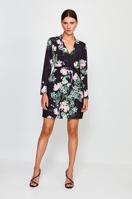 Karen Millen Oriental Sleeved Belted Wrap Dress