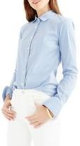 J.Crew Women's Perfect Classic Stripe Stretch Cotton Shirt