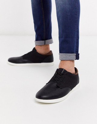 Jack and Jones faux leather sneaker in black