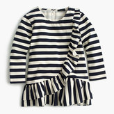 J.Crew Asymetrical striped ruffle top