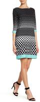 Sandra Darren 3/4 Length Sleeve Printed Dress (Petite)