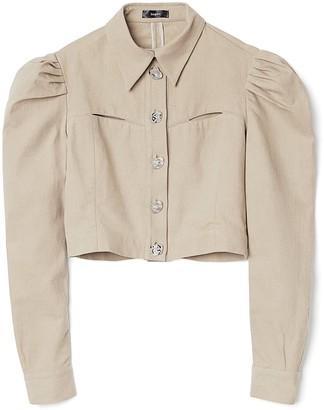 Bogdar Denim Jacket With Puff Shoulders