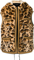 Dolce & Gabbana leopard print faux fur gilet