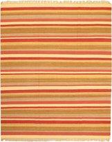 Ecarpetgallery Hand-woven Ankara Kilim Geometric 8' x 10' Ivory 100% Wool area rug
