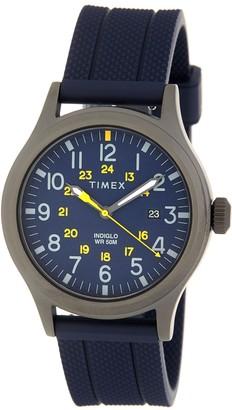 Timex Men's Allied 3-Hand Silicone Strap Watch, 40mm