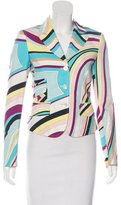 Emilio Pucci Woven Button-Up Blazer