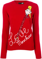 Love Moschino handwriting print sweater - women - Polyamide/Viscose/Cashmere/Virgin Wool - 40