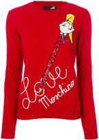 Love Moschino handwriting print sweater