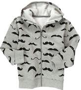 Gymboree Moustache Fleece Hoodie