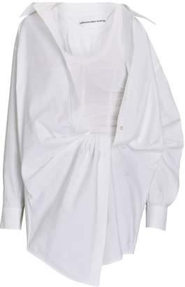 Alexander Wang Falling Twist Layered Shirt Dress