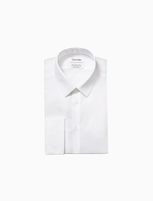 Calvin Klein Slim Fit Bedford French Cuff Performance Non-Iron Dress Shirt