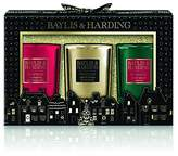 Baylis & Harding Festive Gift Collection Boxed Single Wick Candle Trio