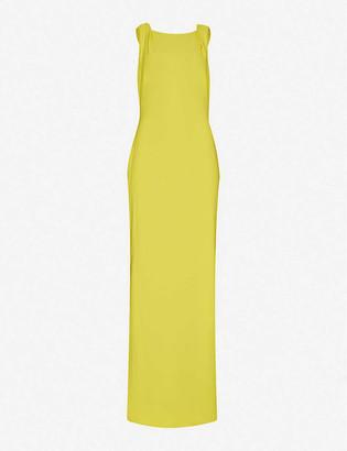 Whistles Tie-back crepe maxi dress
