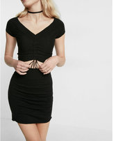 Express high waisted ruched sweater mini skirt