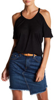 Alternative Heathered Cold-Shoulder Tee