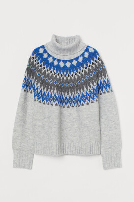 H&M Jacquard-knit Turtleneck