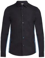 Marni Contrast-panel Cotton-poplin Shirt