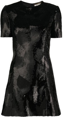 Saint Laurent Sequin-Detail Short-Sleeve Dress