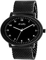 Simplify Unisex Black Strap Watch-Sim3205
