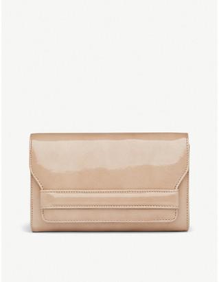 LK Bennett Ella patent leather envelope clutch bag