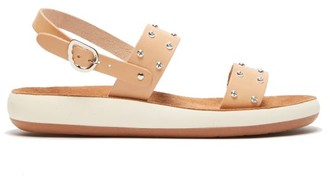 Ancient Greek Sandals Dinami Leather Slingback Sandals - Womens - Tan