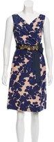 Megan Park Sleeveless Printed Dress