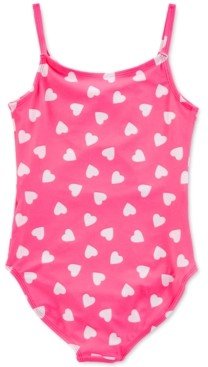 Carter's Little & Big Girls 1-Pc. Heart-Print Swim Suit