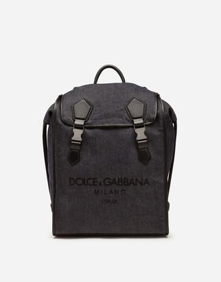 Dolce & Gabbana Edge Backpack In Denim