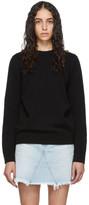 Givenchy Black Wool Fantasy Button Crewneck