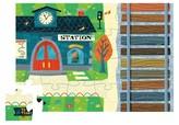 Crocodile Creek Train Station Puzzle & Play Set 24pc