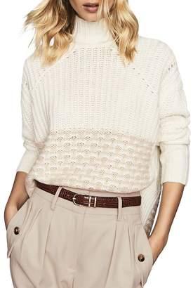 Reiss Emma Pattern-Block Sweater