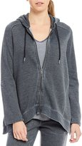 Calvin Klein Distress Washed Fleece Zip Hoodie Jacket