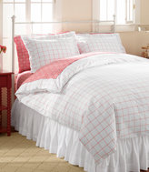 L.L. Bean 280-Thread-Count Pima Cotton Percale Comforter Cover, Windowpane