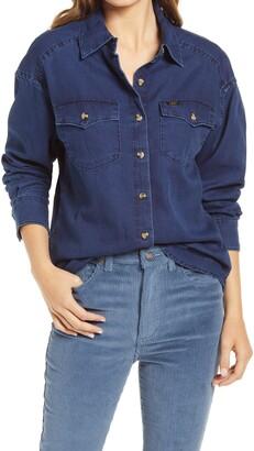 Lee Frontier Western Button Front Denim Shirt