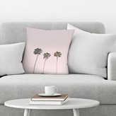 "Palm Trees Throw Pillow East Urban Home Size: 14"" x 14"""
