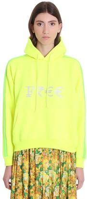 Vetements Sweatshirt In Yellow Cotton