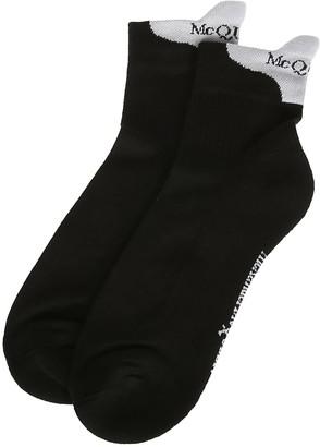 Alexander McQueen Black Cotton Blend Socks