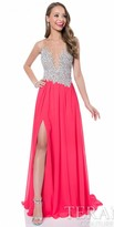 Terani Couture Adrianne Sequined Chiffon Prom Dress