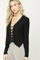 Forever 21 FOREVER 21+ Boxy Lace-Up Sweater