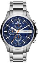 Armani Exchange Ax2155 Chronograph Bracelet Strap Watch, Silver/blue