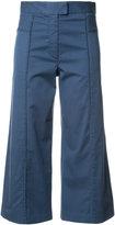 Veronica Beard cropped flared trousers - women - Cotton/Spandex/Elastane - 2