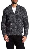 Vince Marled Wool Blend Zip Cardigan
