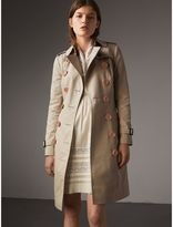 Burberry Resin Button Cotton Gabardine Trench Coat