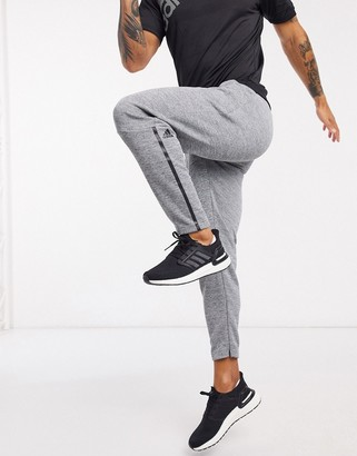 adidas Z.N.E tapered tracksuit bottoms in medium grey heather