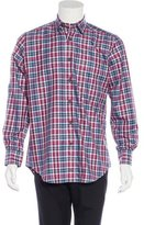 David Donahue Plaid Button-Up Shirt w/ Tags