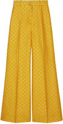 Gucci Light GG lame wide pant
