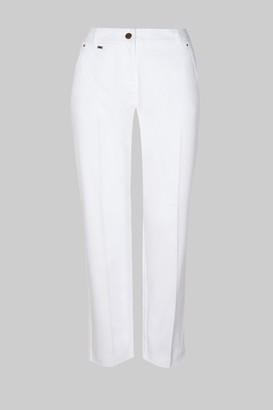 Wallis PETITE White Cotton Cropped Trousers