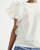 Thumbnail for your product : Ted Baker Ruffle Detail Knitted Top
